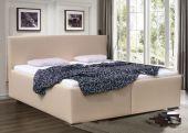 Čalouněná postel - dvoulůžko MAXIM, výška ložné plochy až 65 cm/ EKO kůže bez příplatku